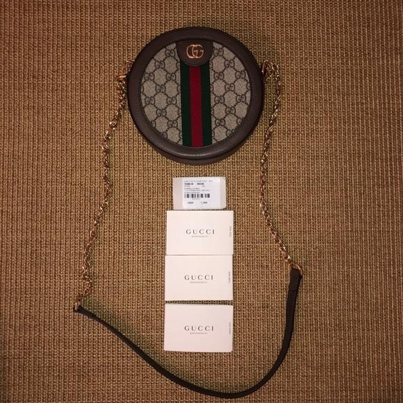 93c7cacc9c0400 Gucci Bags | New Ophidia Mini Gg Round Bag | Poshmark